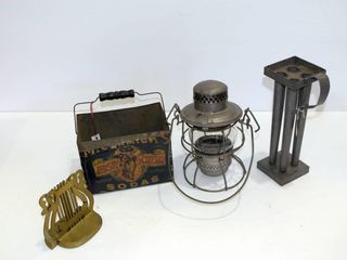 Old candle maker  Soda Tin  Signal lamp