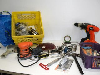 Milk Crate of Hand Tools   Hardware