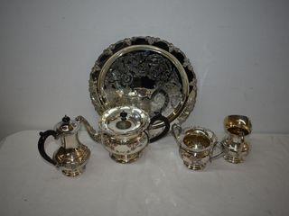 Silver Plate Tea  Coffee Set