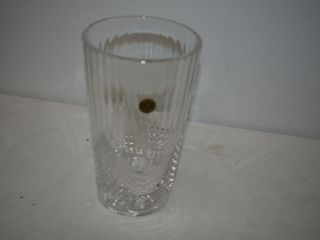 RCR Crystal Vase  8 tall