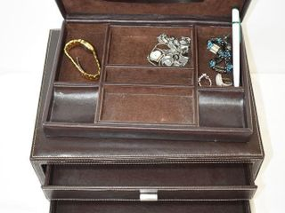 Jewelry Box & Contents including Silver (925)