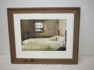 "Framed Print ""Master Bedroom"" by Andrew Wyeth"
