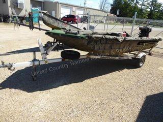 Aluma Weld mod. 1650 DB 16' boat & Shore lander tr