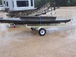 Duck skiff with trailer