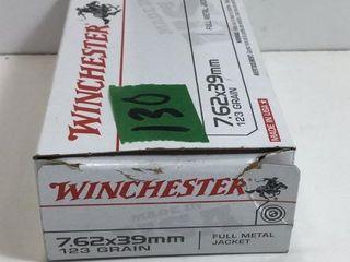 1 BOX 7.62X39MM WINCHESTER FMJ NON-CORROSIVE AMMO