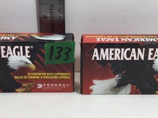 2 BOXES 7.62X39MM AMERICAN EAGLE FMJ AMMO