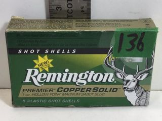 "REMINGTON HOLLOW POINT 12GA, 2 3/4"" SABOT SLUG"