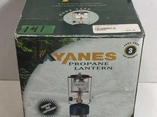 YANES PROPANE LANTERN - MISSING GLOBE & MANTLE