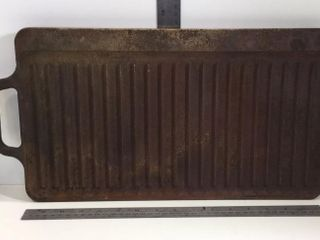 CAST IRON GRIDDLE - HAS RUST