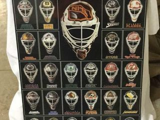 NHL EAST & WEST VINTAGE GOALIE MASK PICTURE