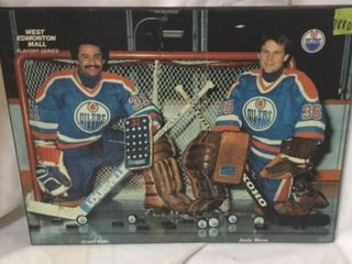 EDM OILERS GRANT FUHR & ANDY MOOG GOALIE PICTURE