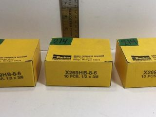 "3 BOXES 1/2""X 3/8"" BRASS 90's, APPROX 10/BOX"