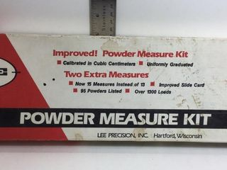 LEE POWDER MEASURE KIT, .3-4.3 CC