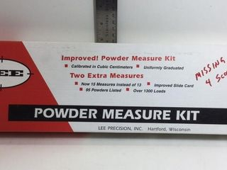 LEE POWDER MEASURE KIT - MISSING 4 SCOOPS,