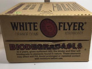 BOX WHITE FLYER ORANGE DOME SKEETS - 135 COUNT