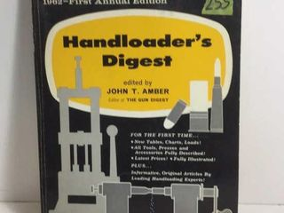 1962 FIRST ANNUAL EDITION HANDLOADER'S DIGEST