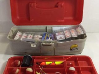 PLANO TACKLE BOX /W HOOKS, BOBBERS ECT.