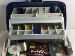 PLANO TACKLE BOX /W HOOKS, LINES, LUNES & BAIT