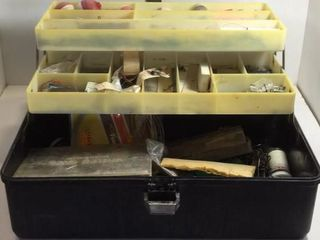 OLD PAL TACKLE BOX /W BOBBERS, LINES & HOOKS