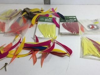 ASSORTED ARCHERY FLIGHTS-VARIOUS WEIGHTS & LENGTHS