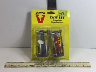 2 - VICTOR EASY SET GOPHER TRAPS - NEW IN PACKAGE