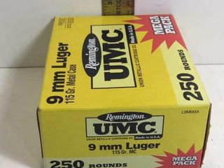 REMINGTON 9MM LUGER 115GR METAL CASE AMMO