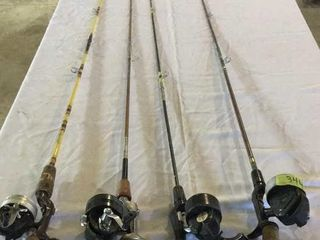 BUNDLE OF 4 RODS/REELS