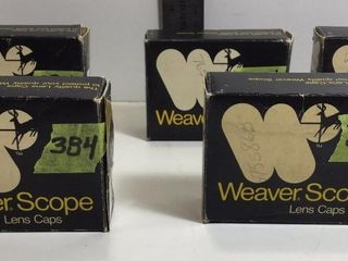 5 - WEAVER SCOPE COVERS, VARIOUS MEASUREMENTS