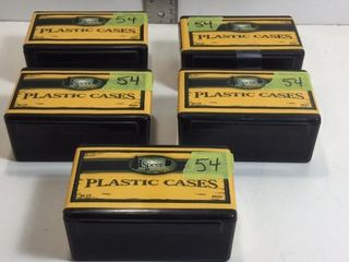 5 CASES 44 CAL PLASTIC TRAINING CASES
