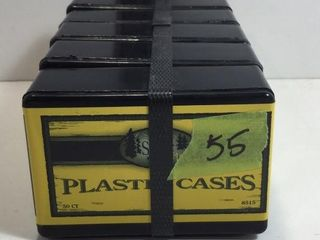 5 CASES .38 SP PLASTIC TRAINING CASES