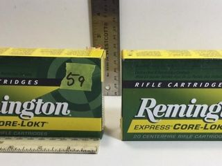 2 - REMINGTON EXP. CORE-LOKT 308 MARLIN EXP. AMMO