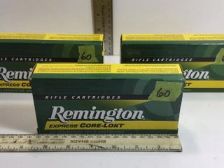 3 - REMINGTON EXP. CORE-LOKT 270 WSM 130GR AMMO