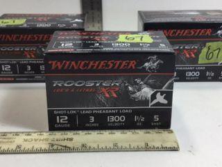 """3 -WINCHESTER 12GA, 3"""", 1 1/2OZ, #5 SHOTGUN SHELLS"""