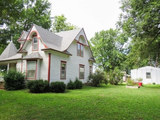 (Severy) 3-BR, 2-BA - 1.5-Story Home w/ BSMT and Oversized Detached 2-Car Gar.
