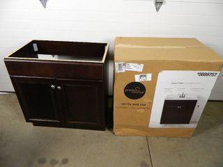 New Java Finish Bathroom Vanity Cabinet