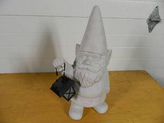 Garden Gnome with Solar Lantern