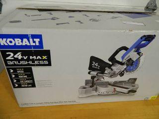 New Kobalt 24 volt Cordless Sliding Dual Bevel Miter Saw