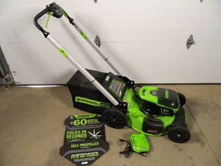 New Greenworks Pro 60 Volt Cordless Self Propelled Lawn Mower