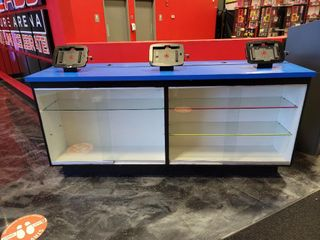 Display Case with glass display shelves and s...