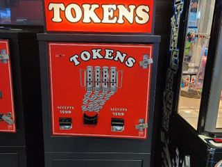 Tokens Machine. Cash in, tokens out. Approx ...