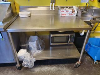 Stainless Steel Workstation on casters....