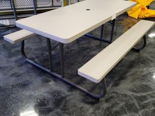 One 6 Foot Folding Picnic Table. Measure...