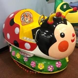 Ladybug Kiddie Ride is a dual seat ride, allo...
