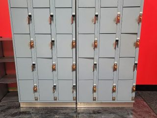 2 Locker sets with 15 individual lockers in e...
