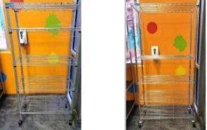 Qty 2 5-Shelf Wire Rack on wheels. Measures a...