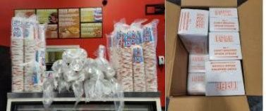 ICEE Cups, lids, and straws. Giant Wrapped 10...