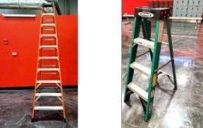 Qty 2 ladders, Werner 10 foot folding ladder,...
