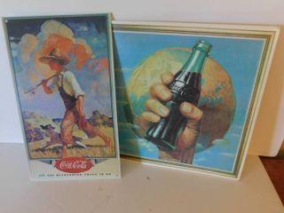 Coke Signs  2 ea