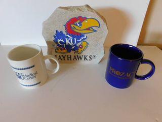 KU Rock   Mugs  2 ea