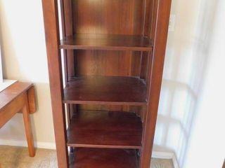 Tall Wood Book Shelf